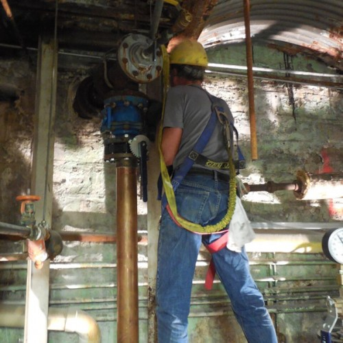 Gombert Employees working above 4'high are required to have fall protection